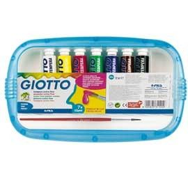 BOX 7 TUBETTI TEMPERA 12ML GIOTTO TUBO 4 ASSORTITO