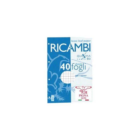 RICAMBI FORATI A5 4MM 80GR QUAXIMA 40FG 80GR PIGNA
