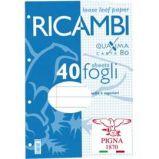 RICAMBI FORATI A4 1RIGO C/MARG. QUAXIMA 40FG 80GR PIGNA