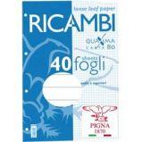RICAMBI FORATI A4 1RIGO QUAXIMA 40FG 80GR PIGNA