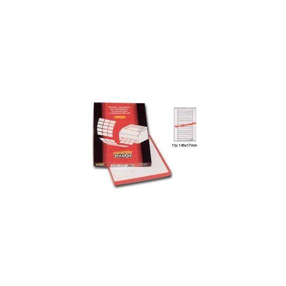 ETICHETTA ADESIVA C/528 BIANCA 100FG IN A4 (16 ETICHETTE DA 145X17MM)