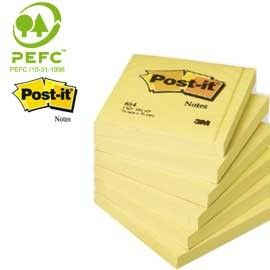 BLOCCO 100fg Post-itGiallo Canary 76x76mm 654