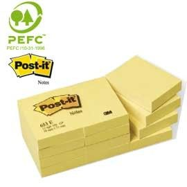 BLOCCO 100fg Post-itGiallo Canary 38x51mm 653