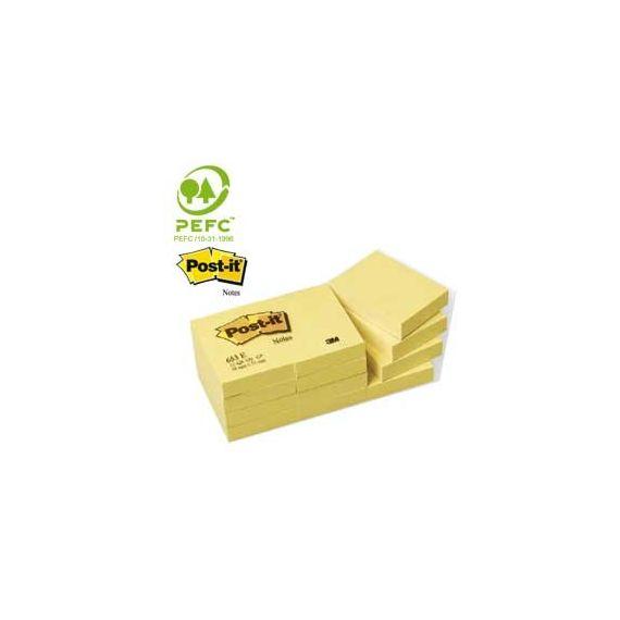 BLOCCO 100fg Post-itGiallo Canary 38x51mm 653
