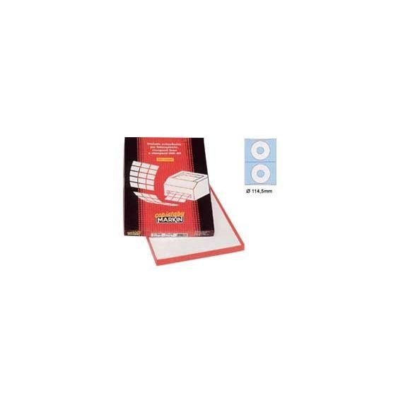 ETICHETTA ADESIVA A/460 BIANCA 100FG IN A4 (2 ET. XCD 114,5MM FORO 41)