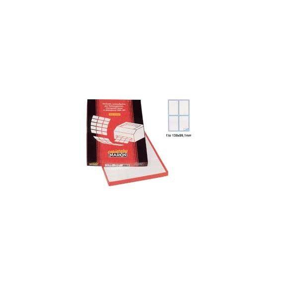 ETICHETTA ADESIVA A/465 BIANCA 100FG IN A4 (4 ETICHETTE DA 139X99.1MM) ANGOLI