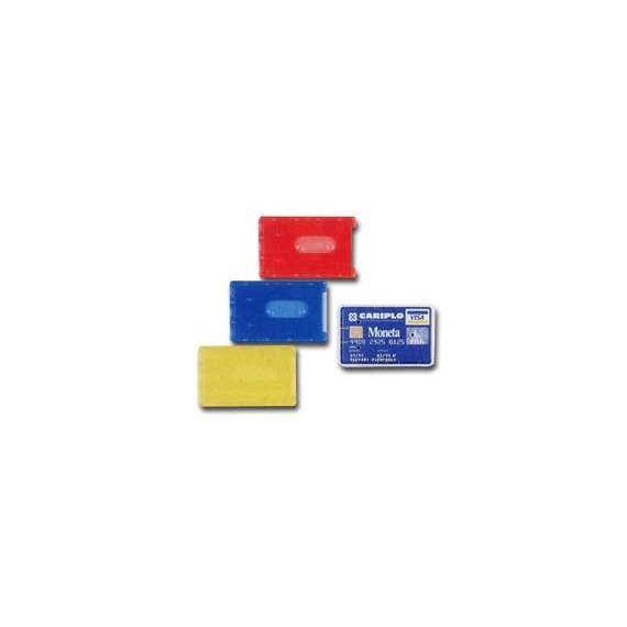 BUSTA PORTA CARDS 8,5X5,4 02/7828 PVC RIGIDO COL.ASSORTITI FAVORIT