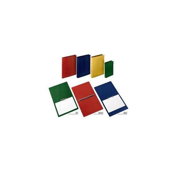 RACCOGLITORE 25X33 ROSSO (4ANELLI 25MM) PRESSPAN