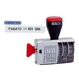 TIMBRO DATARIO POLINOMIO 12 DICITURE 4MM 04000WD (BLISTER) COLOP