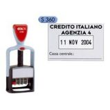 Timbro Office S360 DATARIO personalizzabile autoinchiostrante 30x45mm COLOP
