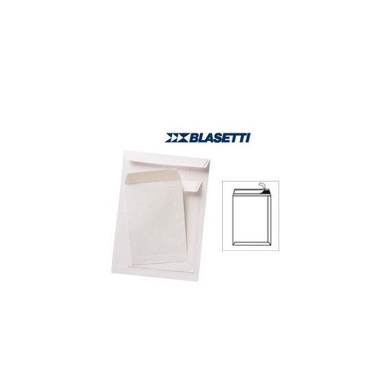 100 BUSTE A SACCO BIANCHE 230X330MM 80GR C/STRIP BLASETTI