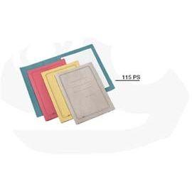 100 CARTELLINE SEMPLICI GIALLO C/STAMPA 145GR