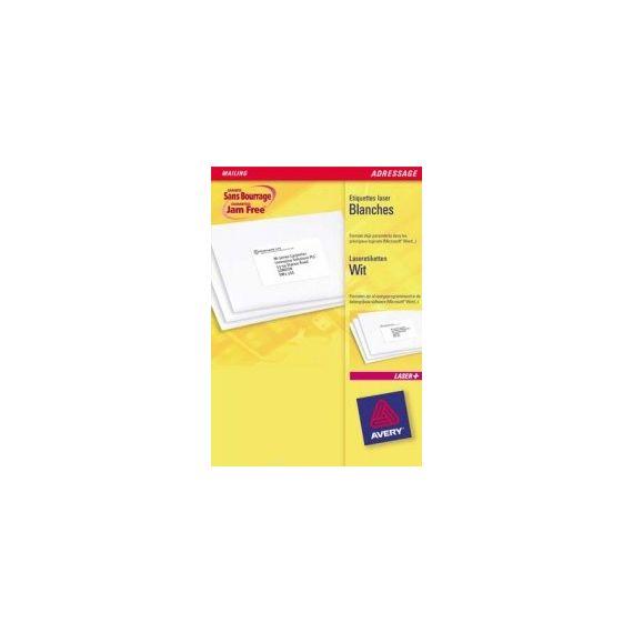ETICHETTE LASER BIANCHE L7161-100FG (18ET/FG 63.5X46.6) QUICKPEEL AVERY