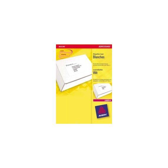 ETICHETTE LASER BIANCHE L7166-100FG (6ET/FG 99.1X93.1) QUICKPEEL AVERY