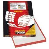 Etichetta adesiva C/500 bianca rimov. 100fg A4 70x36mm (24et/fg) Markin