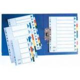 Separatore neutro in PPL 10 tasti colorati f.to A4 MAXI 24,5x29,7cm ESSELTE