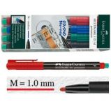 BUSTA 4 COLORI PENNARELLO MULTIMARK 1,0mm MEDIO FABER-CASTELL