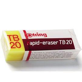 BOX 20 GOMME ROTRING TB20 RAPID ERASER PER MATITA E CHINA