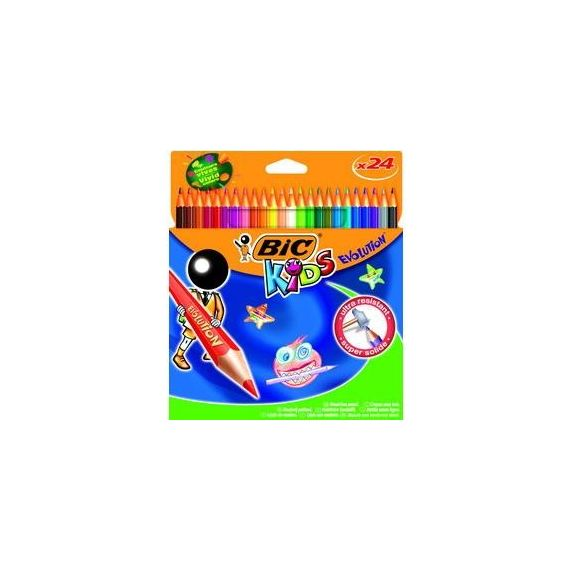 ASTUCCIO 24 MATITE KIDS EVOLUTION BIC