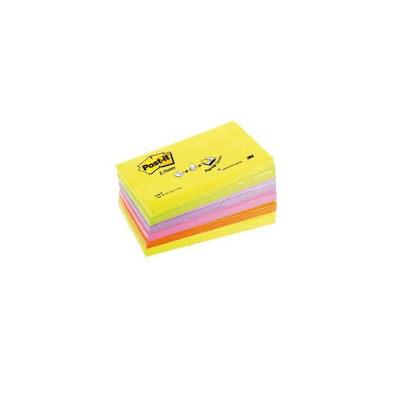 BLOCCO Post-itSuper Sticky Z-Notes 76x127mm 100fg R350NR ASSORT.NEON