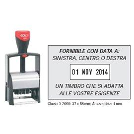 TIMBRO DATARIO PERSONALIZZABILE 2660 37X58MM CLASSIC LINE COLOP