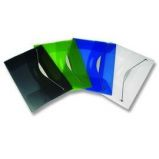 CARTELLINA CON ELASTICO IN PPL TRASP. BLU FELLOWES