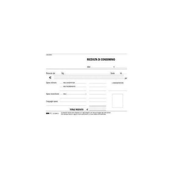 9,9X17 E5564CT BLOCCO RICEVUTE GENERICHE 33FOGLI 3 COPIE AUTORIC