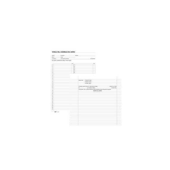 REGISTRO VERBALI ASSEBLEA CONDOMINIO 90PAG 31X24,5CM E2529