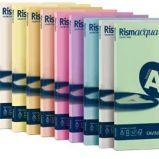 Carta RISMACQUA SMALL A4 90gr 100fg rosa 10 FAVINI