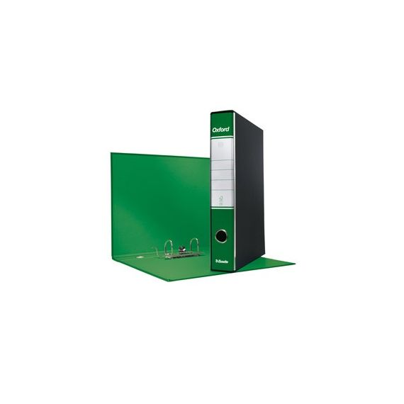 REGISTRATORE OXFORD G82 VERDE DORSO 5CM F.TO COMMERCIALE