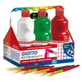 SCHOOLPACK 6 FLACONI TEMPERA PRONTA 1000ML ASSORTITA GIOTTO
