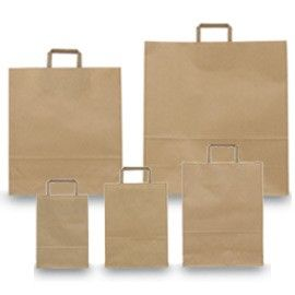 BLISTER 25 SHOPPERS 36X12X41CM AVANA NEUTRO PIATTINA