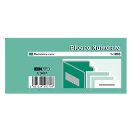 SET 10 BL. DA 100 NUMERI (BLOCCO NUMERATO 1-1000) 6X13 E5407