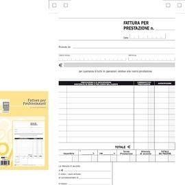 BLOCCO FATTURE PROFESSIONISTI 50/50 FOGLI AUTOR. 23X15 E5266A