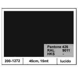PLASTICA ADESIVA DC-FIX 45CM X 15MT NERO 126 LUCIDO