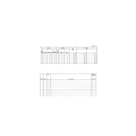 REGISTRO CONTABILITA DEI LAVORI 31x21cm 47pag numerate E2923 EDIPRO