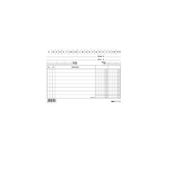 100 SCHEDE 2 COLONNE ORIZZONTALE 10.5X15CM E3129BL EDIPRO