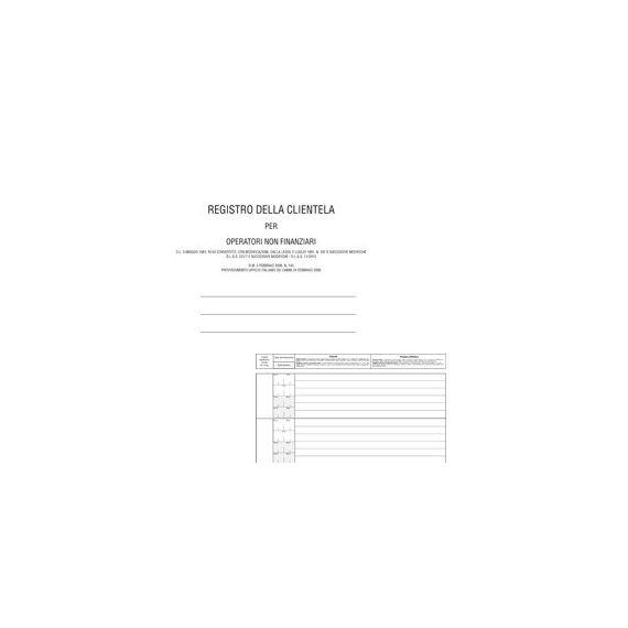 REGISTRO ANTIRICICLAGGIO OPERATORI NON FINANZ. 31X24 96FG E2179 EDIPRO