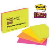 BLOCCO 45foglietti Post-itSuper Sticky 101x152mm MEETING NOTE NEON 6445-4SS