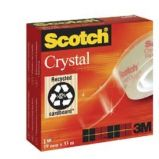 NASTRO ADESIVO SCOTCH CRYSTAL CLEAR 600 66MTX19MM