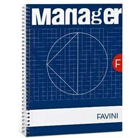 BLOCCO SPIRAL MANAGER 23X29,7CM 10MM 80FG 82GR 4fori microperforato FAVINI