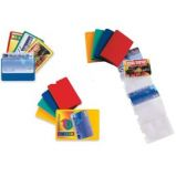 5 BUSTE PORTA CARD 2 COLOR A 2 TASCHE 5,8X8,7CM ASSORT.
