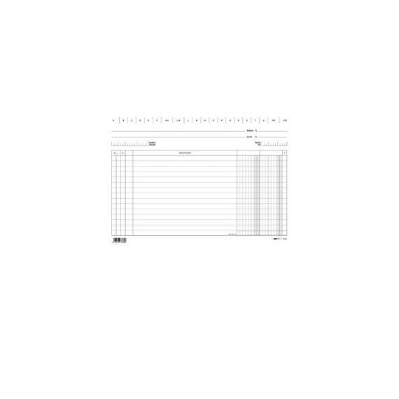 100 SCHEDE 2 COLONNE ORIZZONTALE 17X24CM E3366BL EDIPRO