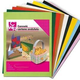 10FG CARTONCINO ONDULATO 50X70CM ROSSO ART 2206/1 CWR
