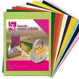 10FG CARTONCINO ONDULATO 50X70CM GIALLO ART 2206/4 CWR
