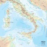 CARTA GEOGRAFICA SCOLASTICA MURALE ITALIA BELLETTI