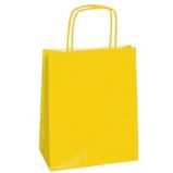 25 SHOPPERS CARTA KRAFT 45X15X50CM TWISTED giallo