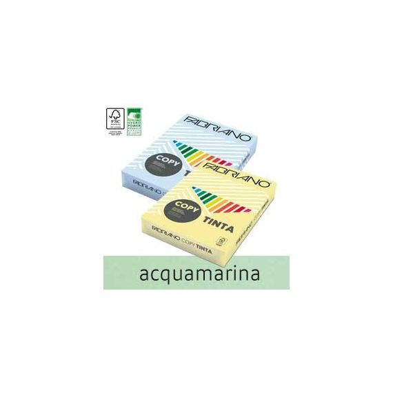 CARTA COPY TINTA A4 80GR 500FG COL.TENUE ACQUAMARINA