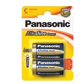 BLISTER 2 PILE MEZZATORCIA ALKALINE C 1,5V PANASONIC