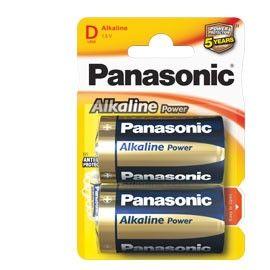 BLISTER 2 PILE TORCIA ALKALINE D 1,5V PANASONIC